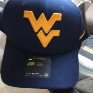NWT WVU swoosh flex hat